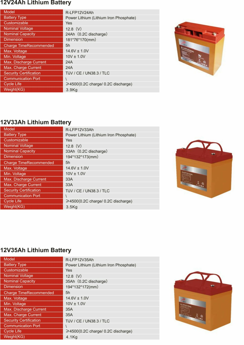 12V Lithium  Iron Phosphate Battery(图3)