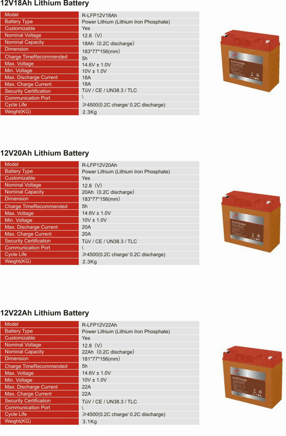 12V Lithium  Iron Phosphate Battery(图2)
