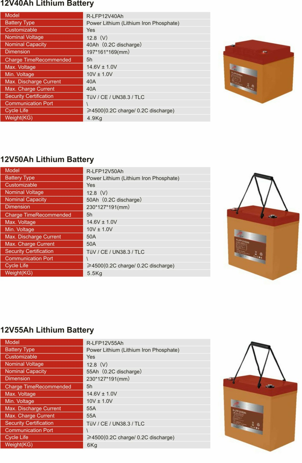 12V Lithium  Iron Phosphate Battery(图4)